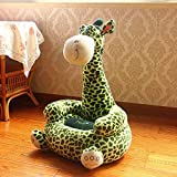 V&K Child Sofa,Plush Giraffe Kid Sofa Couch Cartoon Children's Toddler Furniture for Living Room Bedroom-Green 75x50cm(30x20inch)