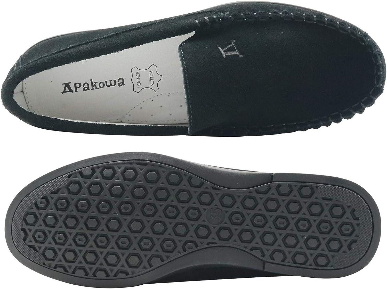 Little Kid//Big Kid Ahannie Kids Boys Loafer Genuine Suede Leather Slip On Casual Moccasin Soft Flats Boat Dress Shoes