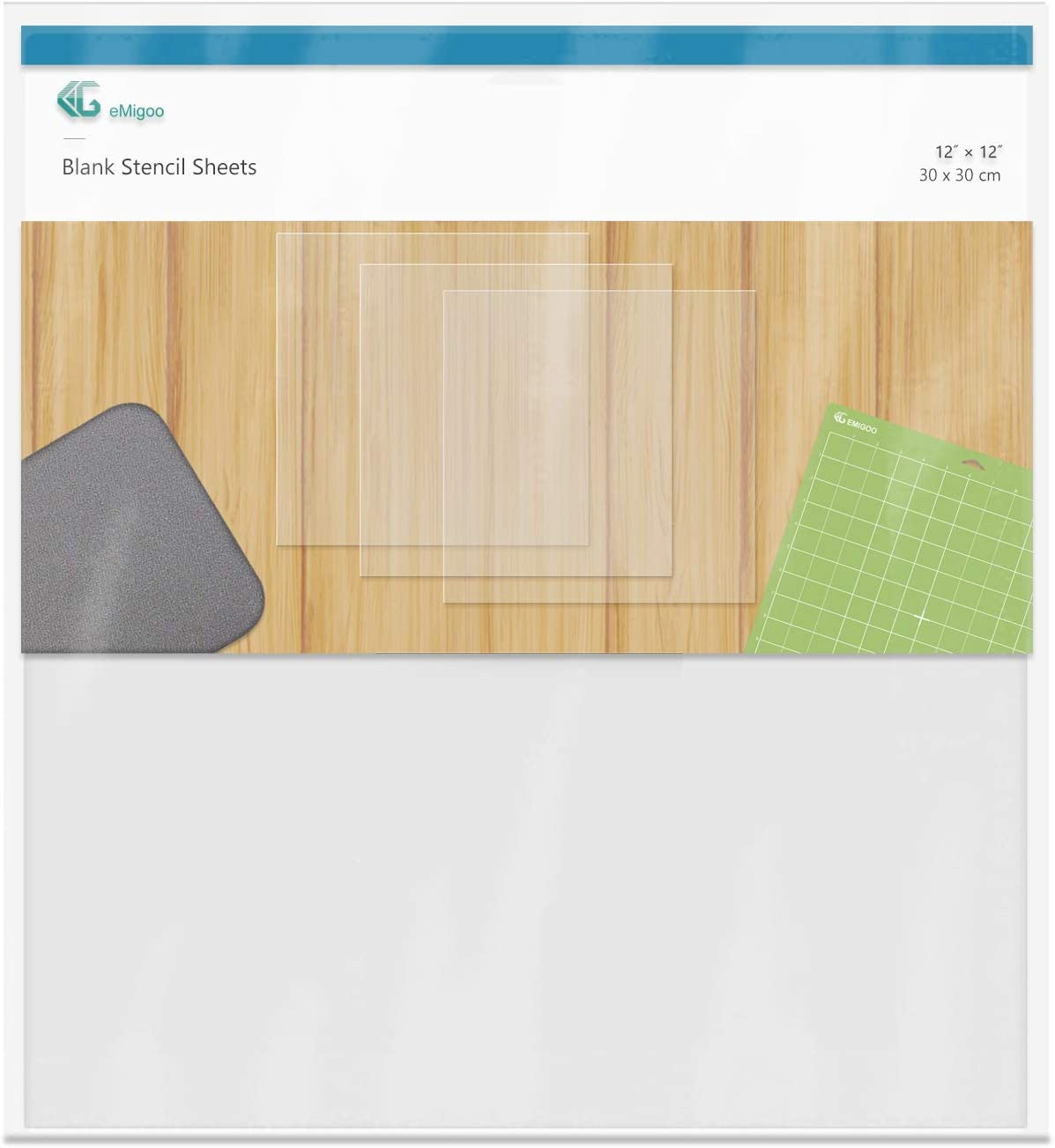 12 Pieces 5 mil Blank Stencil Material Mylar Template Sheets for Stencils, 12 x 12 inches(5 mil)