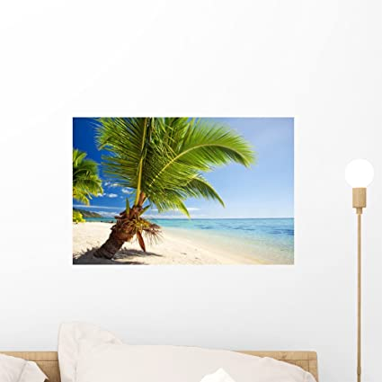 Wallmonkeys Small Palm Tree Hanging Wall Mural Peel and