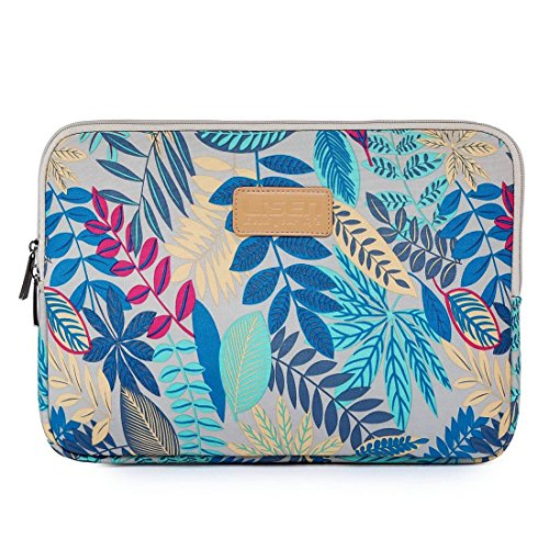 Black Sale Friday Deals Cyber Deals-Valentoria 15.6 Inch Laptop Sleeve Case-Colorful Vintage Leaves Style Ultrabook Sleeve Macbook Bag For Acer/Asus/Dell/Toshiba/Lenovo/Macbook Pro/Macbook Air (Gray)