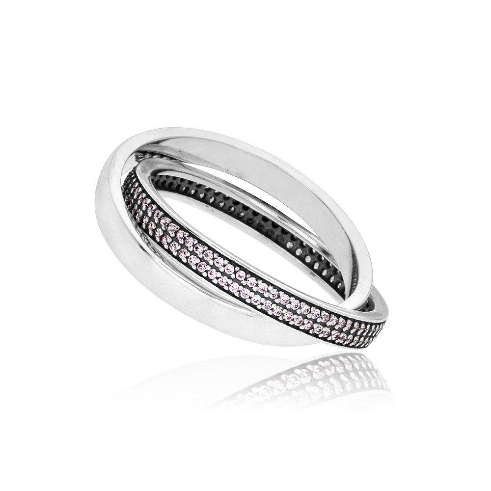 Pandora Sweet Promise Silver & Pink Ring 196546PCZ58