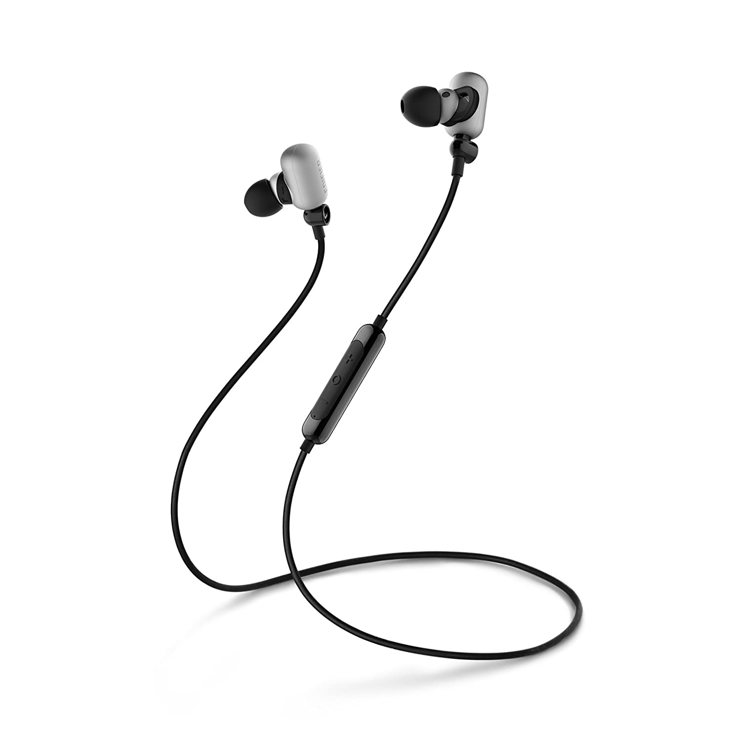 Edifier W293BT Bluetooth v4.1 aptX in-Ear Headphones Earphones IPX7 Sweatproof Waterproof Dual Battery - Silver