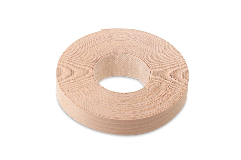 15mm Lebanese Cedar Veneer Edging - 7.5m Roll - Pre-Glued Iron-On Real Wood Edging Tape for Easy DIY Application WoodPress