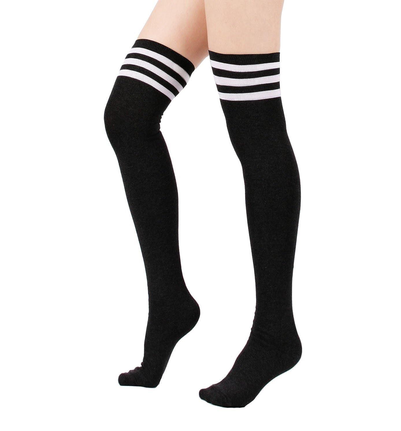 536bb4cb9 Zando Women Triple Stripe Over the Knee High Socks