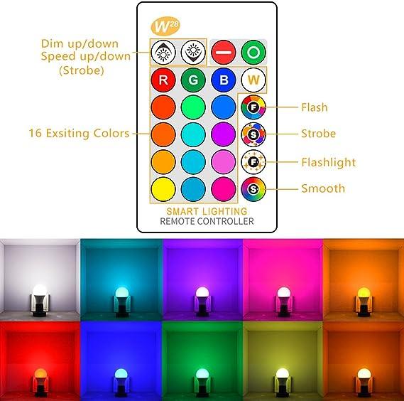 ONEVER 10W RGBW LED Farbwechsellampe E27 Atmosphäre Beleuchtung LED Lampe Blitzlicht Fade Mode Bar KTV Dekorative Beleuchtung RGB + Cool White