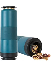 FLPSDE Dual Chamber Water Bottle | Drink+Snack | Vacuum Insulated Stainless Steel | Made for Adventure (Ocean View)