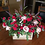 Sweetheart Floral Gift, Valentine Floral Arrangement, French Country Floral Arrangement, Dozen Roses Centerpiece, Sweetheart Centerpiece