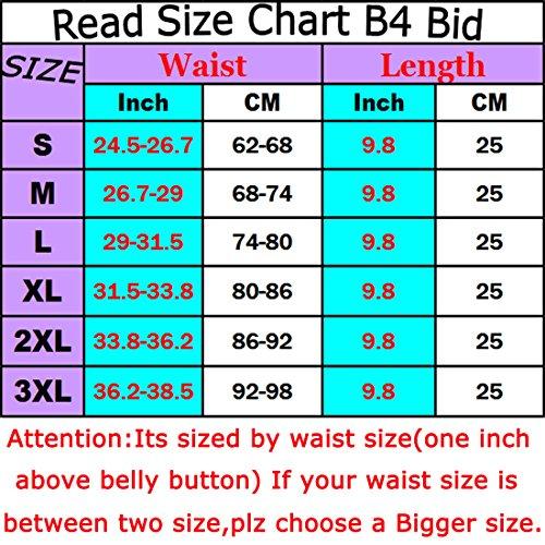 SAYFUT Waist Cincher Trainer Body Tummy Girdle Control Corset Sport Shaper Belly - Black - Medium