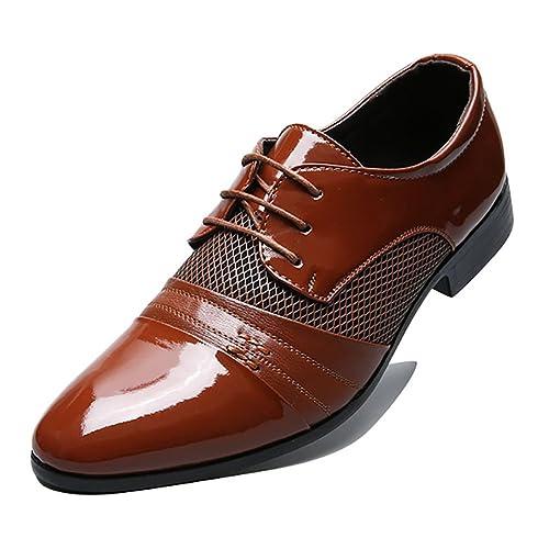 Blivener BlivenerCasual - Zapatos Planos con Cordones Hombre, Color Azul, Talla 44