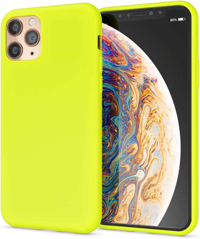 NALIA Neon Case Compatible with iPhone 11 Pro, Slim Protective Shock Absorbent Silicone Back Cover, Ultra-Thin Mobile Phone Protector Shockproof Bumper Rugged Skin Soft Rubber Coverage, Color:Yellow