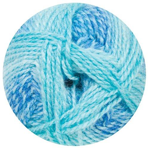 Baby Sugar Stripes (Mary Maxim Sugar Baby Stripes Yarn, Cool Mint)