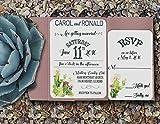 Pocket Wedding Invitations/Rustic Wedding Invitations/Handmade Wedding Invitations/Wedding Invitations Set/ 100
