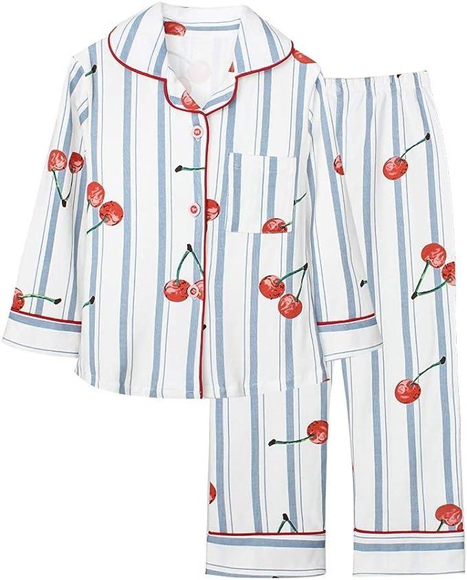 Pijama para niñas, Manga Larga, Frutas Blancas, impresión, Ropa de ...