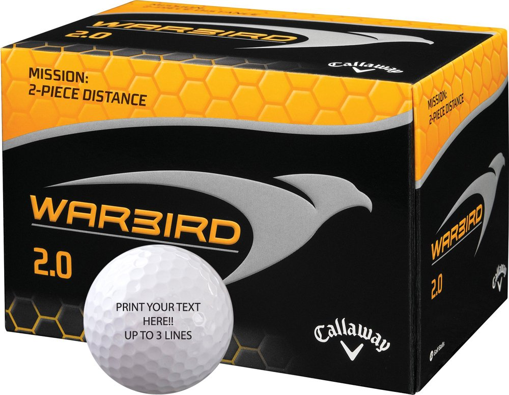 Personalized Callaway Warbird 2.0 Golf Balls (6 dozen) by Ben Hogan