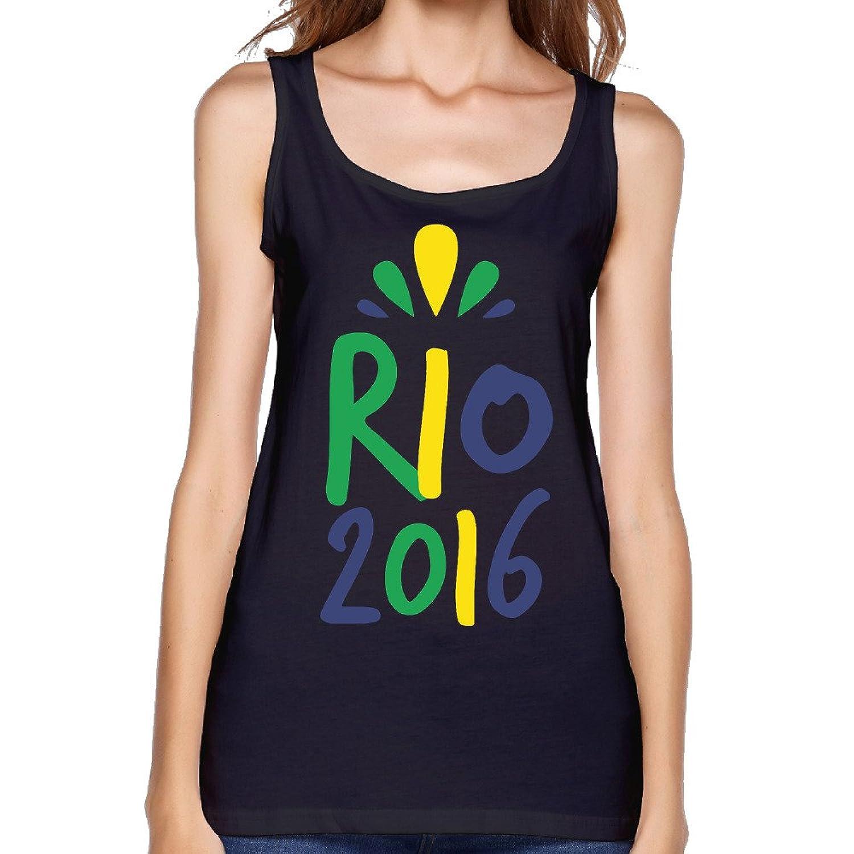 MSCUEYBR Women's Brazil Rio 2016 Tank Top-Gray