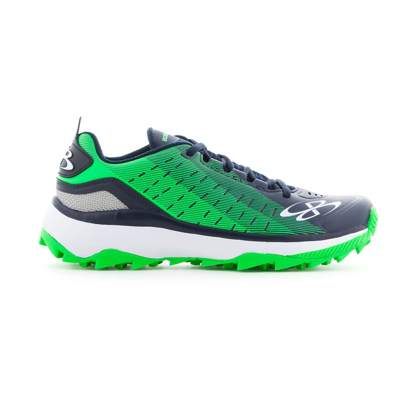 Boombah Men's Catalyst Turf Navy/Lime Green - Size 10 by Boombah