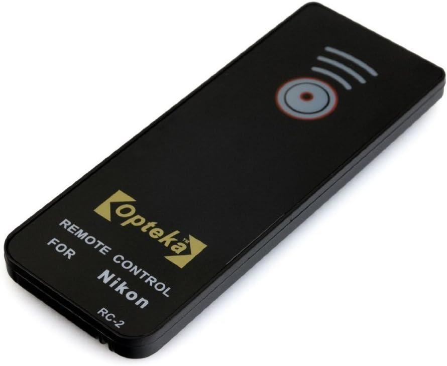 D60 D90 D3200 D5000 ML-L3 Replacement D5100 /& D7000 DSLR Cameras D40 P7100 D3000 V1 J1 D80 D40x Opteka RC-2 IR Remote Control for Nikon P7000 D70s D70 D50