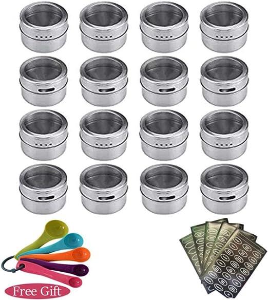 VWCDO magn/étique Pots /à /épices r/écipient Ensemble avec /étiquettes Autocollants Stylo assaisonnement Bouteille Poivre Stockage faveur de Elefants 12 pcs