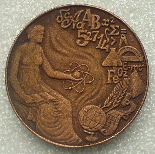 1970s Graduate High School College USSR Soviet Union Russian Jubilee Commerative Desk Medal