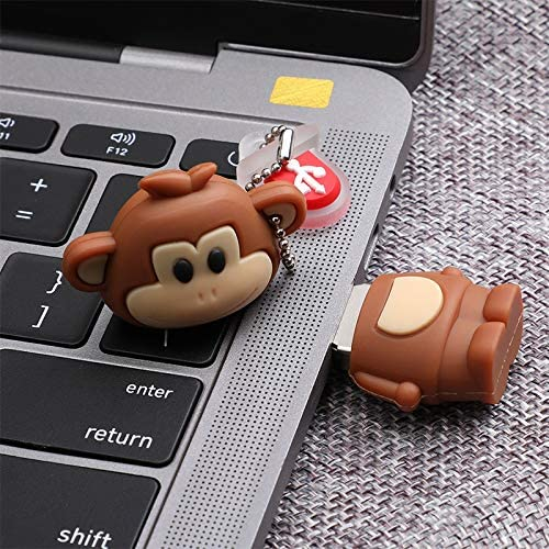 Qifumaer 16GB Novelty Cute Zodiac Monkey USB 2.2 Flash Drive High Speed Key Pen Drive Memory Stick Gift