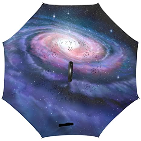 e8036606e9a51 Amazon.com : Wamika Spiral Galaxy Cosmic Reverse Umbrella Double ...