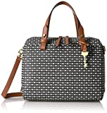 Fossil Rachel Satchel Handbag, Black Dot