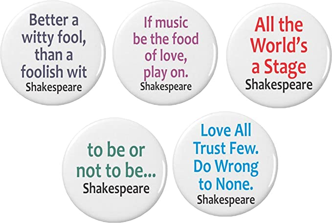 Amazoncom Set 5 Shakespeare Quotes 225 Keychains To Be Worlds