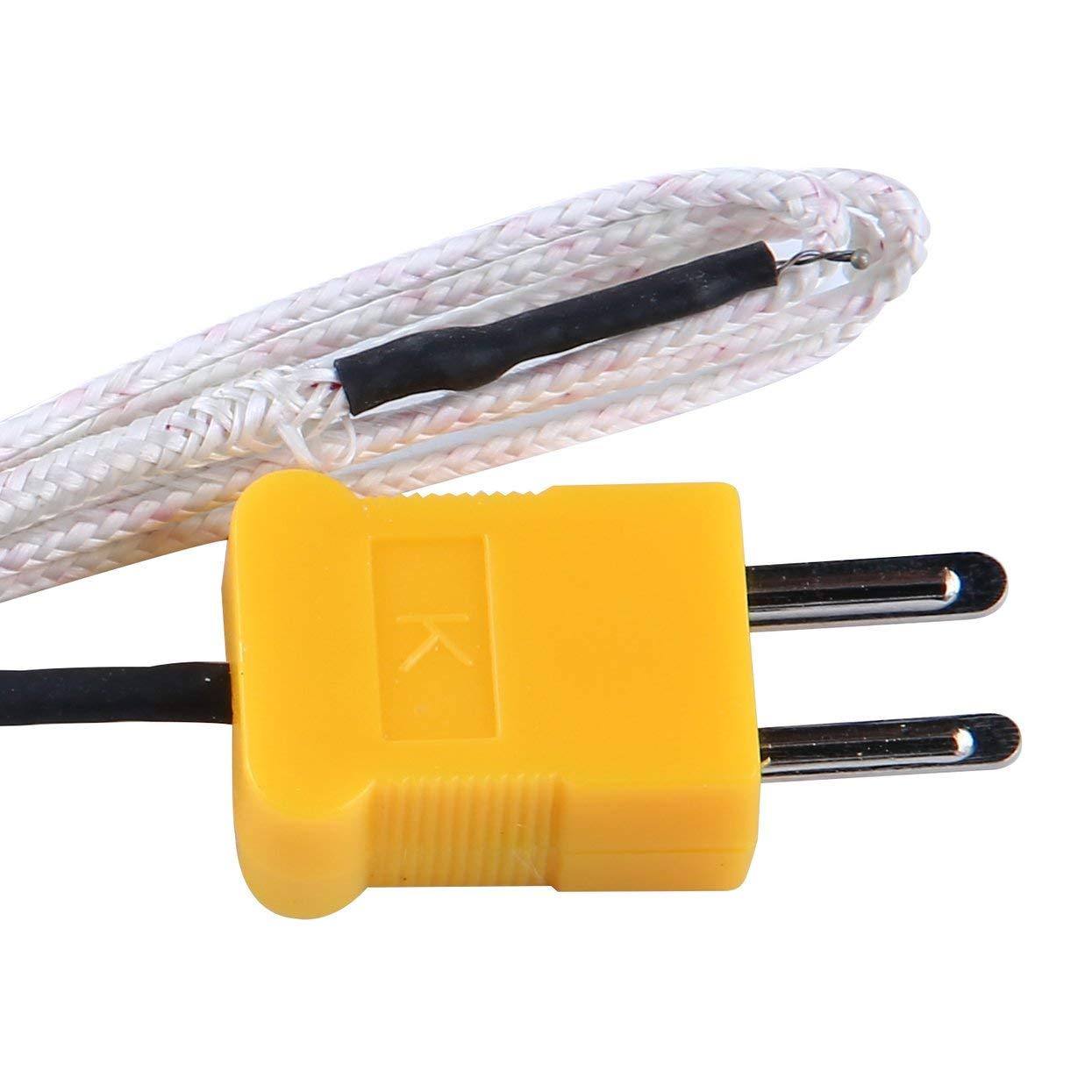 Tellaboull for 6802 II Termometro Digitale a Doppio Canale Doppio con 2 sensori di termocoppia Tipo K modalit/à di memorizzazione dei Dati della sonda