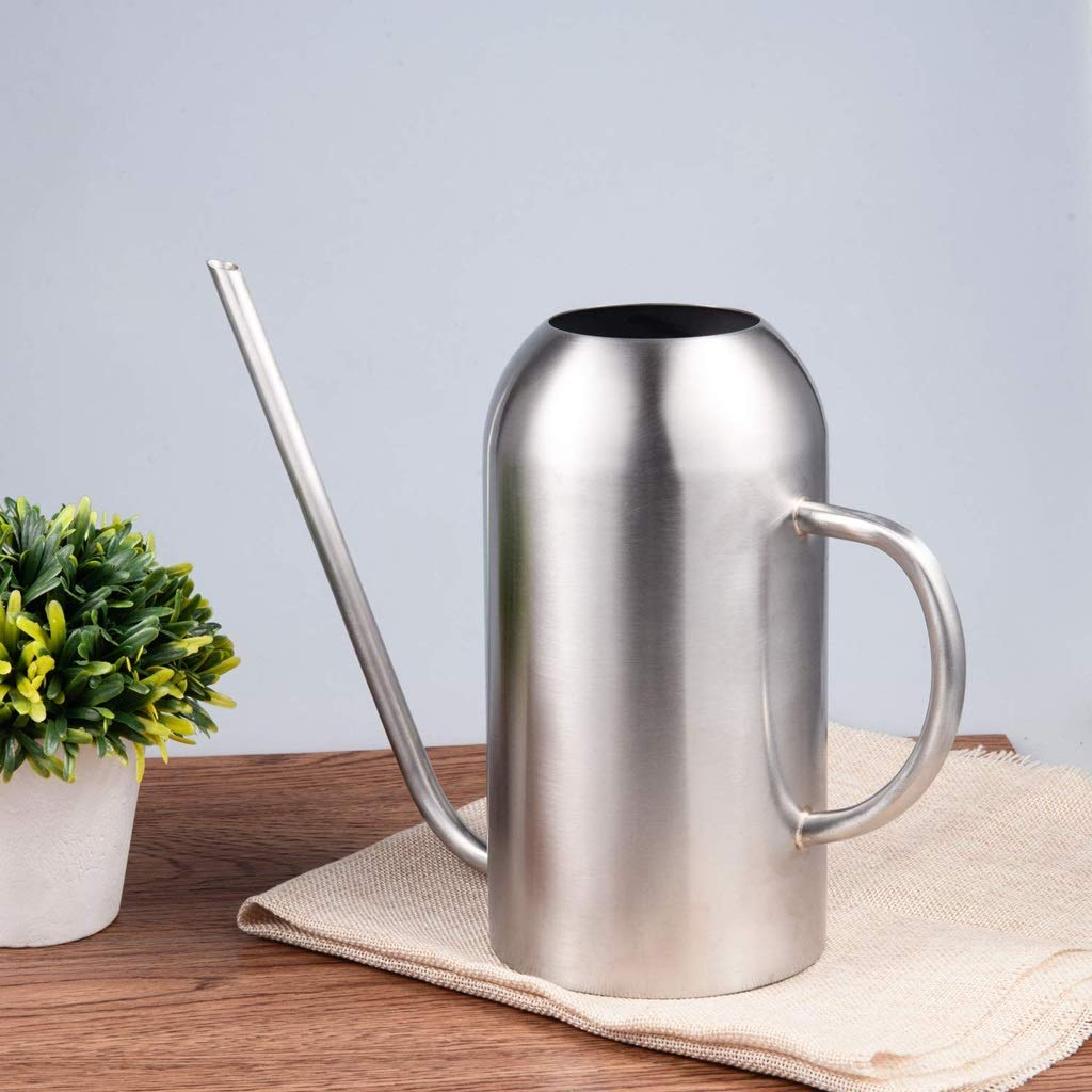 JFDKDH Watering Can Stainless Steel Watering Pot Long Spout Watering Cans,Sprinkling Pot for Indoor House Plants,51 Oz /1.5 L by JFDKDH