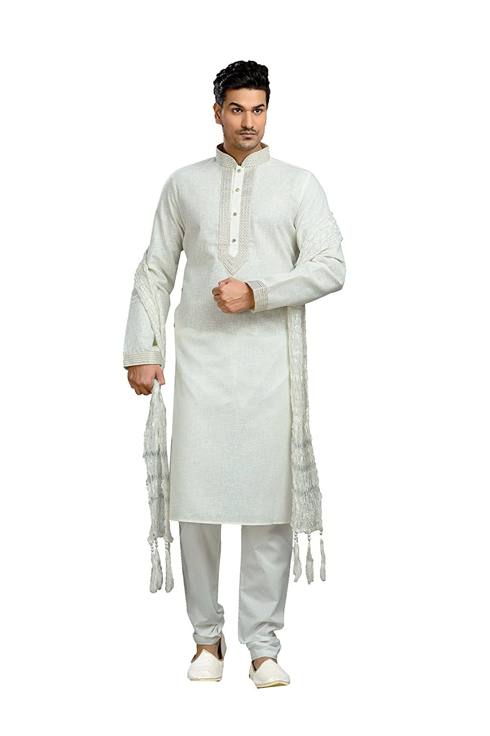 CANDY VINES Kurta Pajama Ready Made Indian Ethnic Dupion Silk Casual Mans Wear