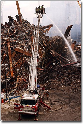 - FDNY Ladder Truck Extinguishing Fires 9/11 16x24 Silver Halide Photo Print