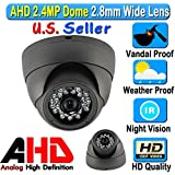 Lexa AHD 2.4MP 1080P Dome 1/2.9 Sony Sensor 2.8mm Wide Angle Lens Vandal Weather Water Proof Night Vision BNC Connection Outdoor CCTV