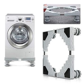 Base móvil multifuncional ajustable con 4 pies fuertes, tamaño retráctil, caja móvil de ruedas con ruedas para secadora, lavadora y frigorífico: Amazon.es: ...