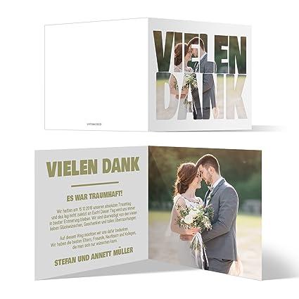 30 X Hochzeit Dankeskarten Danke Danksagungskarten Karten Individuell Fotoschrift