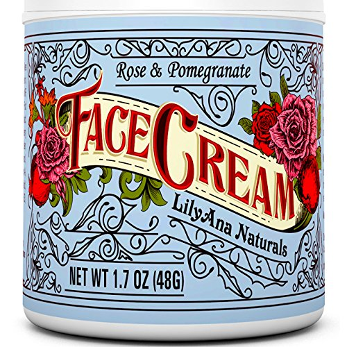 Face Cream Moisturizer (1.7 OZ)  Natural Anti Aging Skin - Cream Day Care Rose Skin