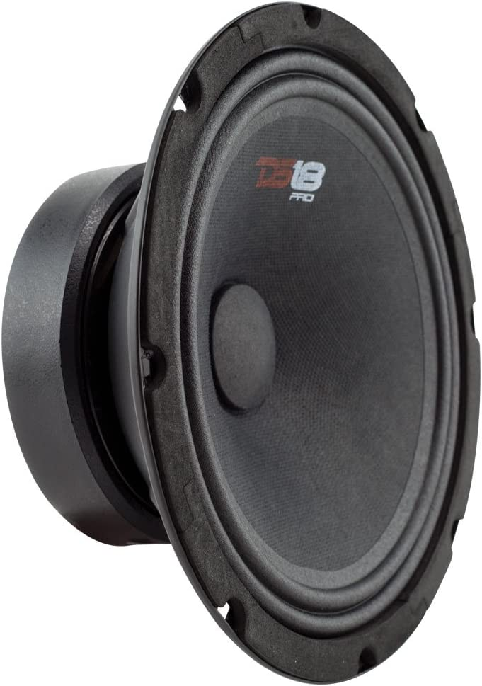 "DS18 PRO-GM6SE Loudspeaker - 6.5"", Midrange, Sealed Back, 380W Max, 90W RMS, 8 Ohms - Premium Quality Audio Door Speakers for Car or Truck Stereo Sound System (1 Speaker)"