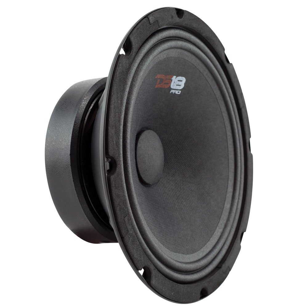 DS18 PRO-GM8SE Loudspeaker - 8'', Midrange, Sealed Back, 480W Max, 140W RMS, 8 Ohms - Premium Quality Audio Door Speakers for Car or Truck Stereo Sound System (1 Speaker) by DS18