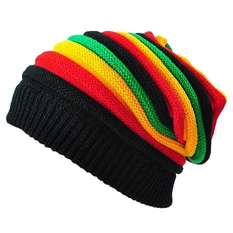 7ba74e08212 Amazon.com   Jupitson Classic Rasta Slinky Beanie Dreadlocks Cap ...