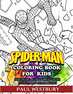 Amazon.com: Marvel Spiderman Coloring Book: Coloring Your Favorite ...