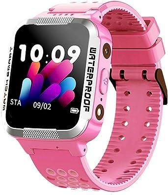 OPALLEY - Reloj inteligente, impermeable, seguimiento móvil, localizador de muñeca, Smartwatch Fitness Sport Android Wear, podómetro para mujer, hombre, niños, para Android iOS Smartphones Correa Rosa: Amazon.es: Relojes