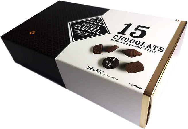 Bombones de chocolate negro y leche 15 piezas Michel Cluizel ...