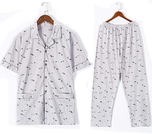 Pijamas Hombre Ropa de Dormir Stripes Lepal camisón de algodón de ...