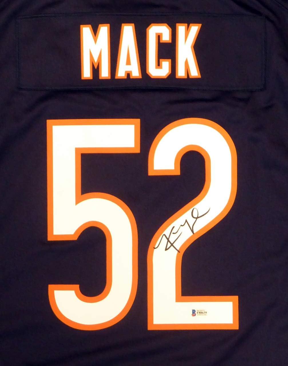 Chicago Bears Khalil Mack Autographed Blue Nike Jersey Size XL ...