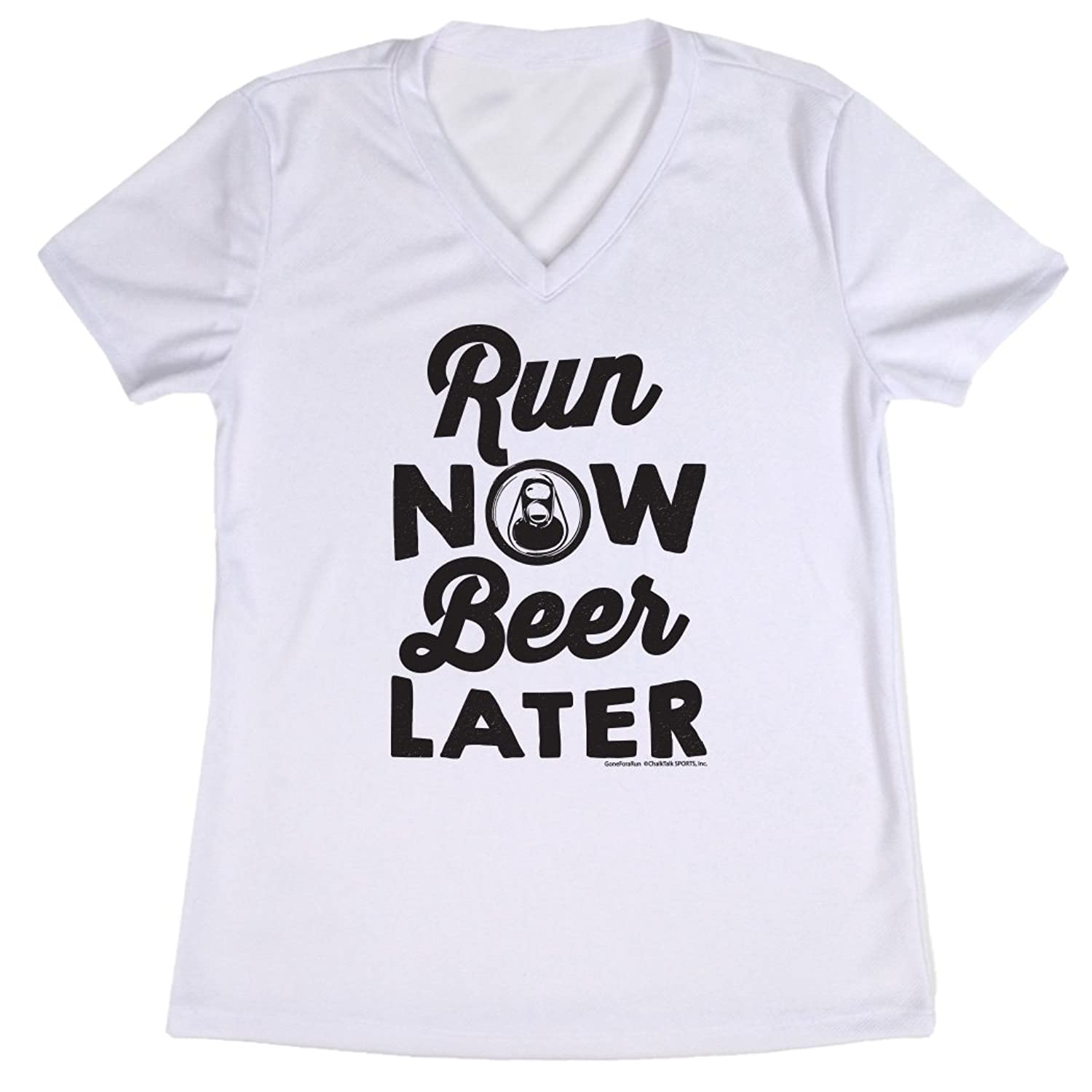 Women's Running Short Sleeve Tech Tee Run Club Run Now Beer Later