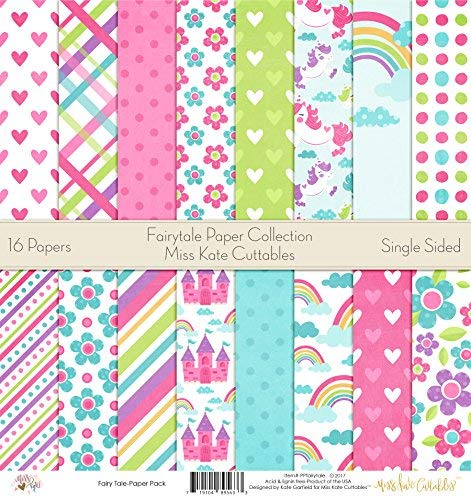 (Pattern Paper Pack - Fairytale - Scrapbook Premium Specialty Paper Single-Sided 12