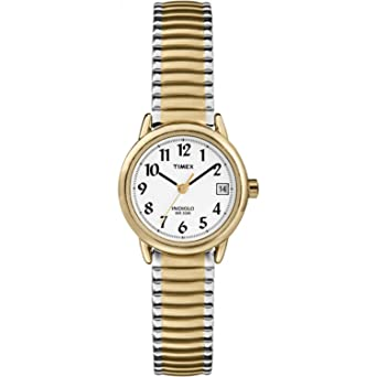 6e684ee79 Timex Women's T2H381 Easy Reader Two-Tone Stainless Steel Expansion Band  Watch