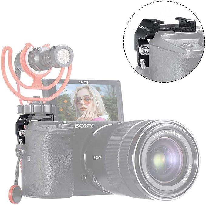Flycoo2 - Adaptador de Zapata para micrófono y luz LED para cámara ...