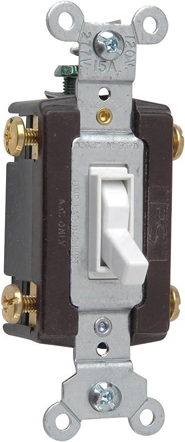 Legrand Pass Seymour 664wgcc12 Four Way Toggle Grounding Switch 15 Amp 120 Volt White Wall Light Switches Amazon Com