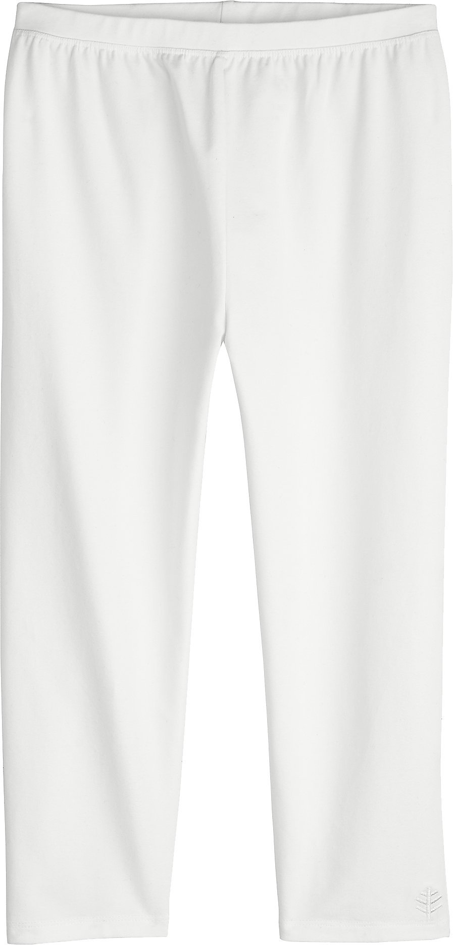 Coolibar UPF 50+ Girls' Summer Capris - Sun Protective (X-Large- White)